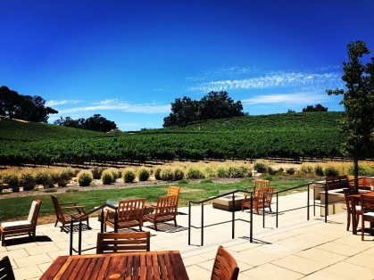 Our view from the tasting room terrace at Justin Vineyards and Winery. Enjoy their flagship Isosceles (especially the 94pt rated 2013 vintage) or one of their other outstanding blends like the 2014 Savant or the amazing 2014 Trilateral, a classic Rhone GSM. 🍷 Cheers!
