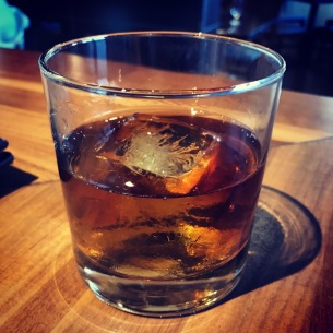 Featuring Woodford Reserve bourbon, lavender simple syrup, black walnut bitters and, of course, the single block ice cube: the Out of Fashion at The Gallery in Westlake Village, California.