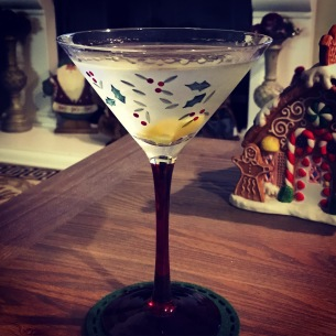 A 007 Christmas: the Vesper. 3 oz.. of Gordon's Gin, 1 oz. of Tito's Vodka and 0.5 oz. of Lillet Blanc, shaken (of course) until it's ice cold and served with a thin slice of lemon peel. Cheers!