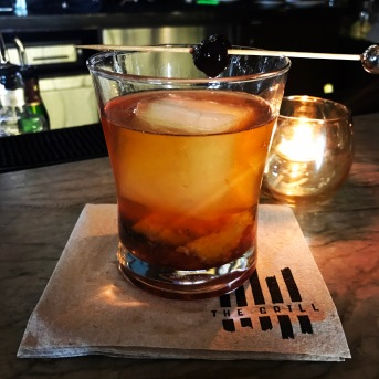 Expertly prepared Old Fashioned by our bartender, Edwin at The Grill in Westlake Village, California.