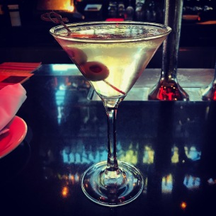 The Well-Mannered Dirty Martini. Ketel One Vodka a hint of Dolin Vermouth and just the right amount of olive brine, courtesy of the excellent bar staff of The Cheesecake Factory.