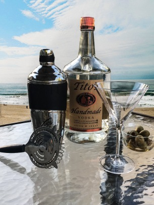 Just two ingredients, a world class vodka shaken vigorously with ice and olives, result in the clean, crisp taste of this classic. Beautiful beach setting optional.
