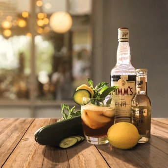 The weather's getting warmer (at least it is here in La La Land). A perfect time for classic refreshment: the Pimm's Cup. Pimm's #1, Fever Tree Ginger Ale, fresh lemon and cucumber and our little twist on the classic recipe, in honor of Derby Day, fresh mint. Enjoy!