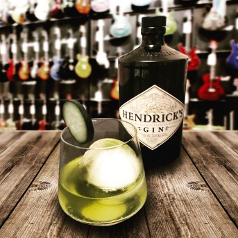 The Jimi Hendricks 🎸 Muddled mint and cucumber, Hendrick's Gin and agave syrup. This one really shreds, guys. Cheers!