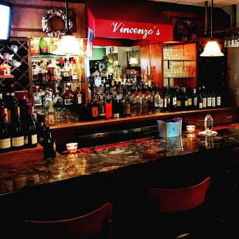 "This... This is old school. The bar at Vincenzo's Ristorante in Middlesex, New Jersey. ""Try the veal, it's the best in the city."" Know what I'm talkin' about? Great Italian food--expertly prepared and served by a top-notch staff, classic cocktails, and a great wine list make Vincenzo's a hidden treasure in the heart of The Garden State."