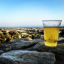 Sunday evening overlooking the coastline of Santa Barbara with a cold one. It doesn't get better than this.